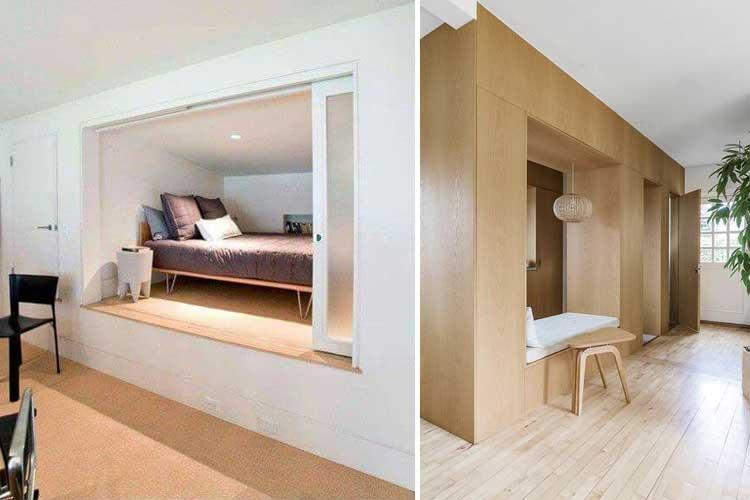 Dormitorios abiertos