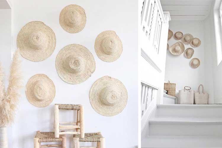 Decorar espacios utilizando sombreros