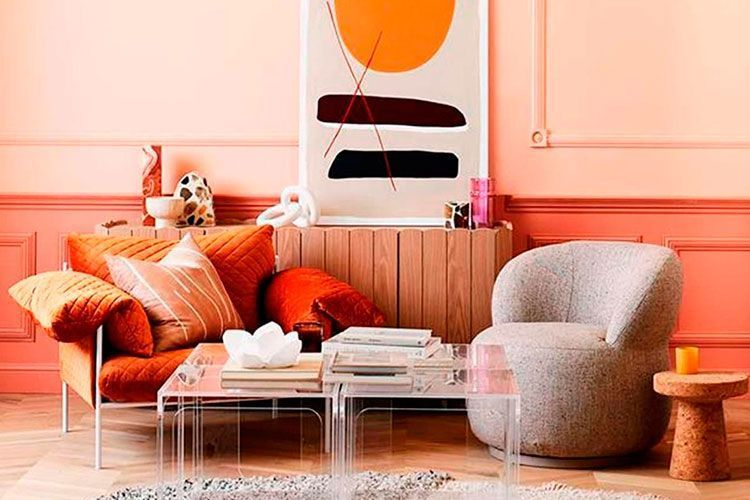 Decoración color Living Coral