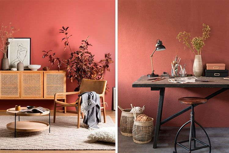 paredes color Living Coral