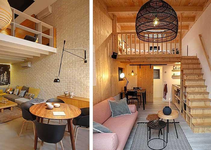 Dormitorios en altillos