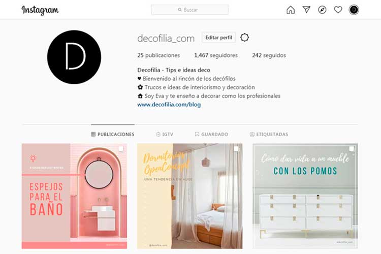 Decofilia Instagram