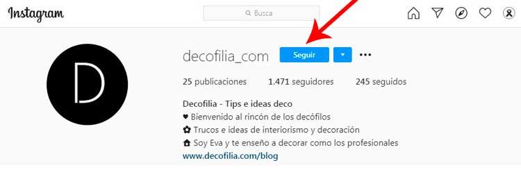 Cuenta Instagram Decofilia