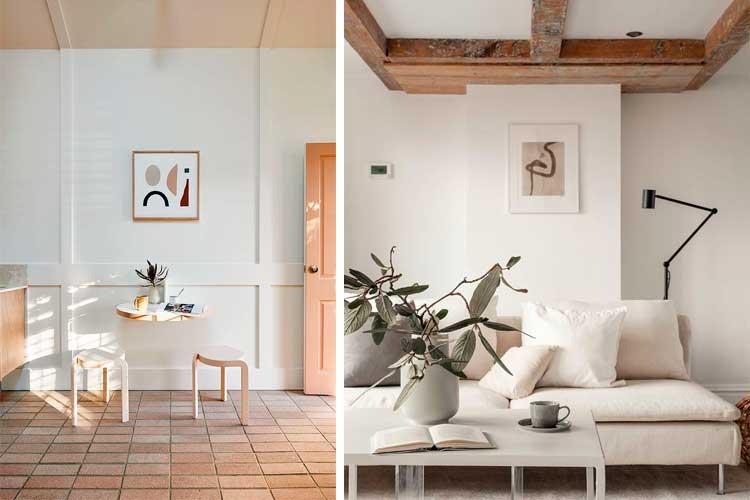 Cómo vestir paredes con láminas decorativas