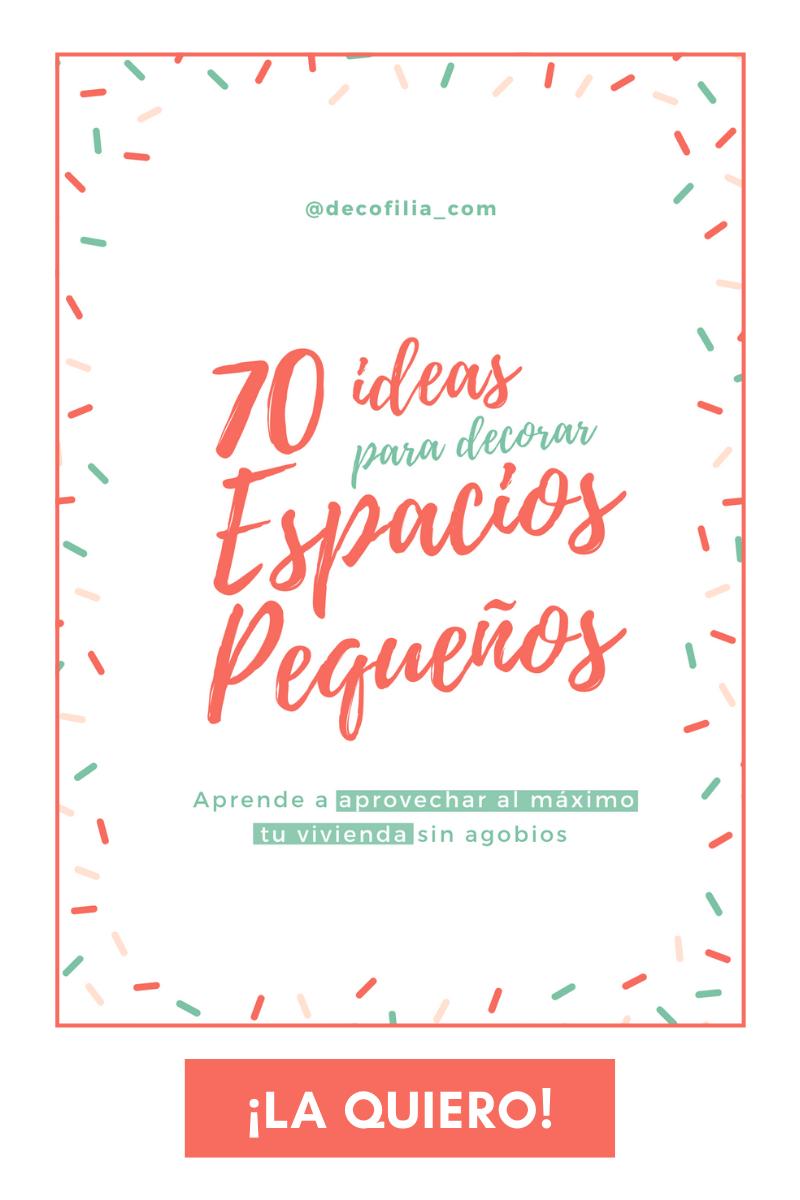 """Guía gratuita """"70 ideas para decorar espacios pequeños"""""""