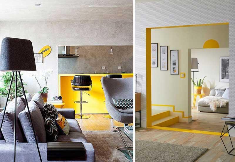 Gris y amarillo, colores Pantone 2021