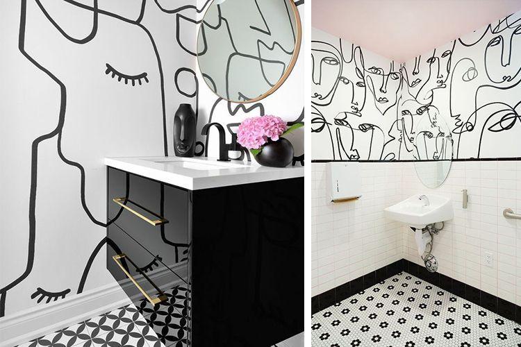 Diseño lineal para la decoración de paredes