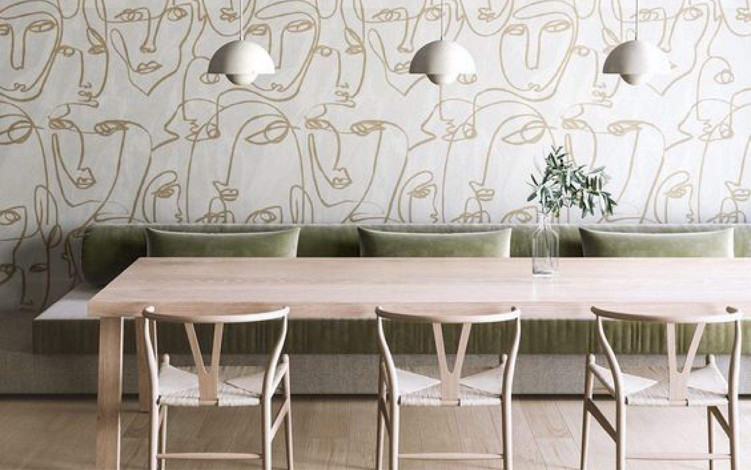 Cómo decorar paredes con diseño lineal