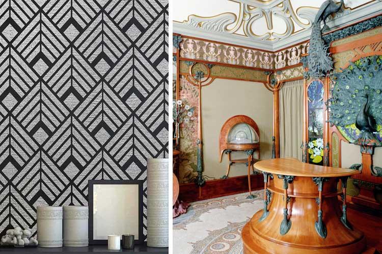 simbología diferente del art decó y el art nouveau