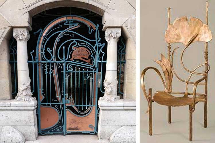 asimetría en el art nouveau